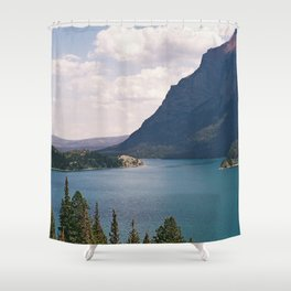 Sun Point, Glacier National Park, 35mm Shower Curtain