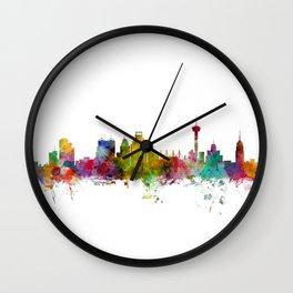 San Antonio Texas Skyline Wall Clock