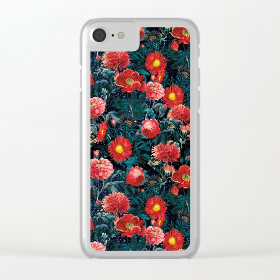 NIGHT FOREST XIX Clear iPhone Case