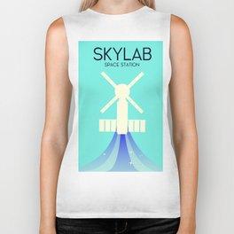 Skylab Space Station Space Art. Biker Tank