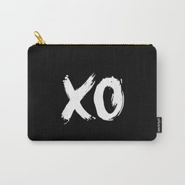 XO Hugs and Kisses white and black gift for her girlfriend xoxo bedroom art and home room wall decor Carry-All Pouch