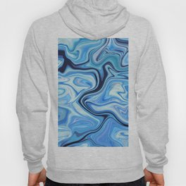 Marbled Frenzy Electric Blue Hoody