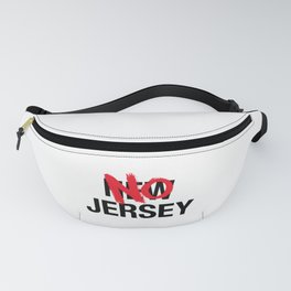 New Jersey, No Jersey Cartoon Flag Fanny Pack
