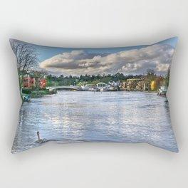 The River Thames at Reading Rectangular Pillow