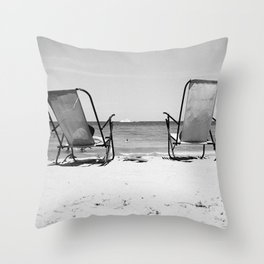 Beach Life - Gone Swimming Throw Pillow