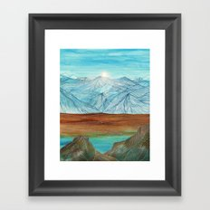 Lines in the mountains XI Framed Art Print