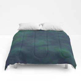 Dark blue and green marble Comforters