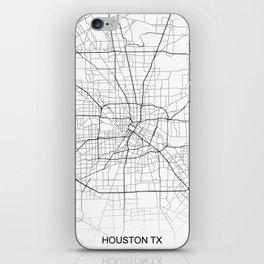 Houston street map iPhone Skin