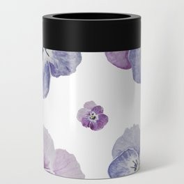 Watercolor Pansy Pattern Can Cooler