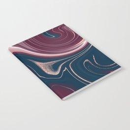 Rose Gold Fluid Art Notebook