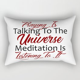 Prayer Meditation Listening To The Universe Rectangular Pillow