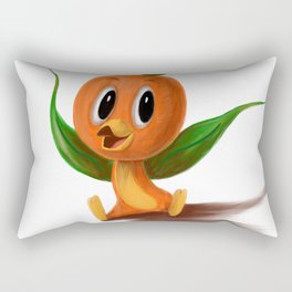 Orange bird portrait Rectangular Pillow