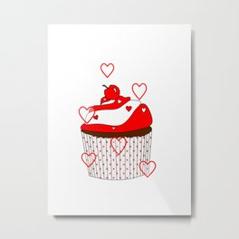 Love And Cupcakes Metal Print