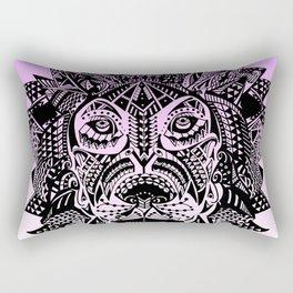 Tribal Inspired Lion Illustration (Gradient) Rectangular Pillow