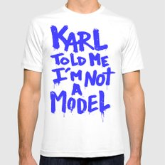 Karl told me // Summer 2014 edition // White Mens Fitted Tee MEDIUM