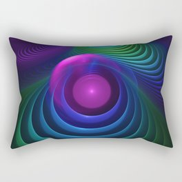 Beautiful Rainbow Marble Fractals in Hyperspace Rectangular Pillow