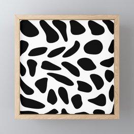 Black Pebbles Motif Framed Mini Art Print