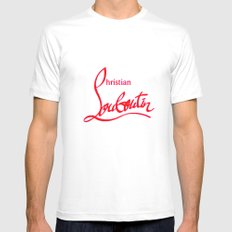Louboutin Mens Fitted Tee MEDIUM White
