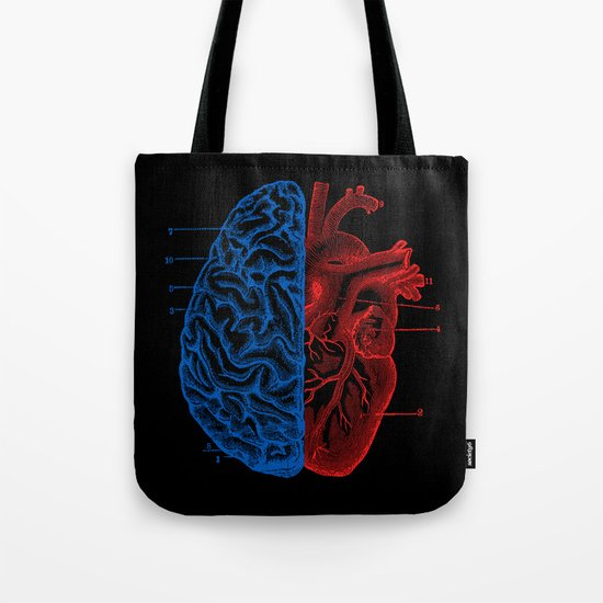 Heart and Brain Tote Bag
