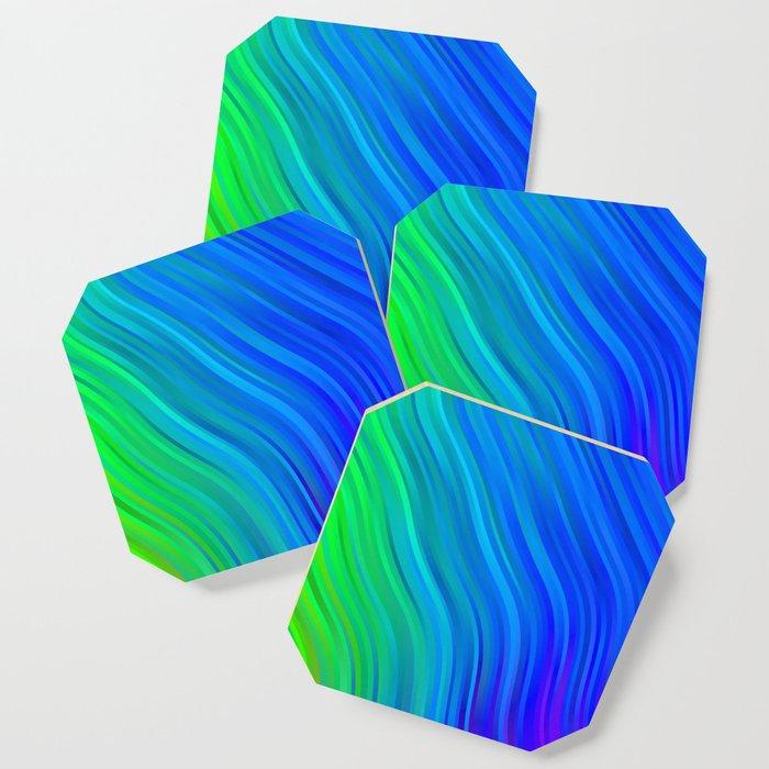 stripes wave pattern 1 stdv Coaster