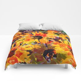 Golden Sunflower Garden Comforters