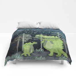 crocodoodle stars Comforters