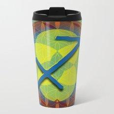 Flower of Life SAGITTARIUS Astrology Design Metal Travel Mug