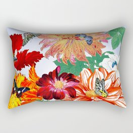 Dazzlin' Dahlias, Tulips, B'flies Rectangular Pillow