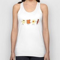 design Tank Tops featuring Let's All Go And Have Breakfast by Teo Zirinis