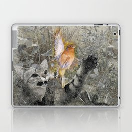 Red in tooth and claw - cat and bird Laptop & iPad Skin