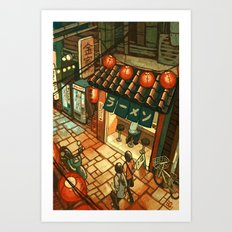 Ramen in the Alley Art Print