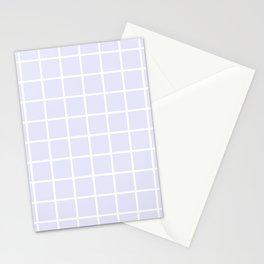 GRID (WHITE & LAVENDER) Stationery Cards