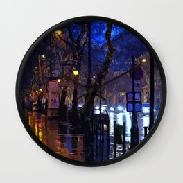 Lights up the Night Wall Clock