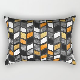 Fall Herringbone Rectangular Pillow