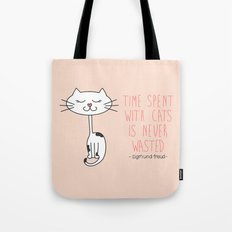 Time With Cats Tote Bag