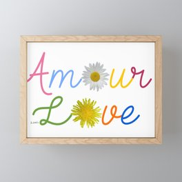 Amour Love Framed Mini Art Print