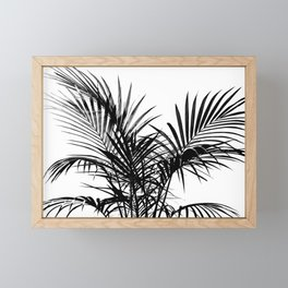 Little palm tree in black Framed Mini Art Print