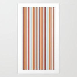 Combined Stripe Pattern - Clear Sailing Colorway Art Print