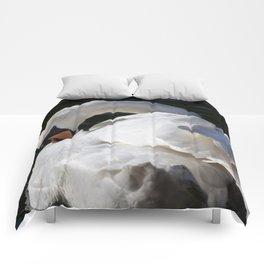 Peaceful Swan Comforters