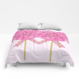 Let's Be Together For Ever - Pink Flowers Light Pink Backgrond #decor #society6 #buyart Comforters