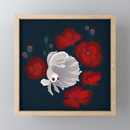 Bettas and Poppies Framed Mini Art Print