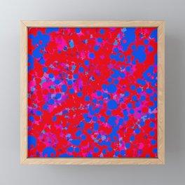 blue on red, circles Framed Mini Art Print