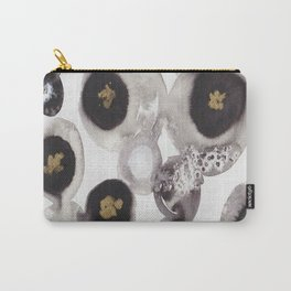 """Flowing Circles"" - Karla Leigh Wood Carry-All Pouch"