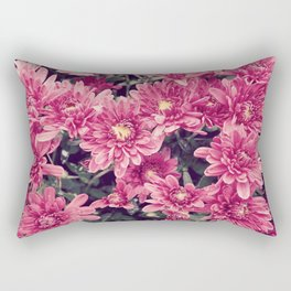 Real-Life Floral Print: Pink Rectangular Pillow