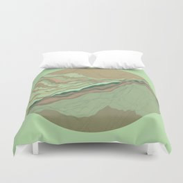 TOPOGRAPHY 001 Duvet Cover