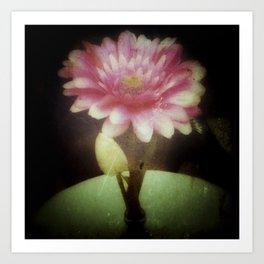 Vintage Dreamy Flower Art Print