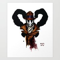 rorschach Art Prints featuring Rorschach by Aortic Inkwell