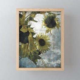 autumnal sunflowers Framed Mini Art Print