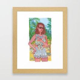 Tropical Vacation Framed Art Print