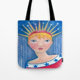 Whimiscal Miss Liberty Tote Bag